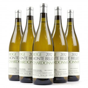 Ridge Monte Bello Chardonnay 2012 Santa Cruz Mountains 5x75cl