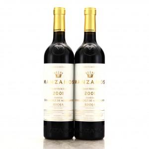 Bodegas Manzanos 2001 Rioja Gran Reserva 2x75cl