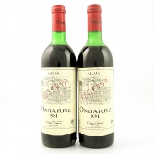 Ondarre 1981 Rioja Reserva 2x75cl