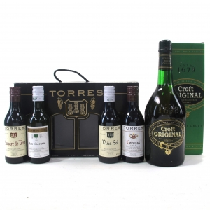 Croft Original Cream Sherry 75cl and Torres Selection Pack 4x18.75cl