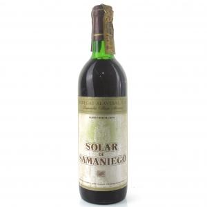 """Bodegas Alavesas """"Solar De Samaniego"""" 1970 Rioja"""