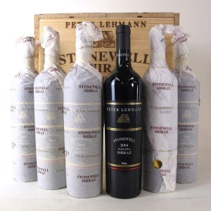 "Peter Lehmann ""Stonewell"" Shiraz 2004 Barossa 6x75cl / Original Wooden Case"