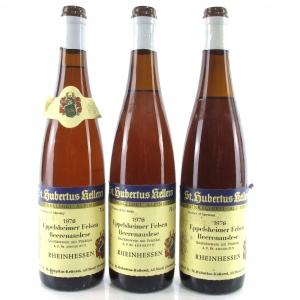 """St. Hubertus """"Eppelsheimer Felsen"""" Beerenauslese 1976 Rheinhessen 3x70cl"""