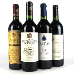 Assorted Spanish Red Wines 4x75cl