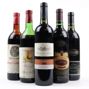 Assorted Australian Cabernet Sauvignon & Shiraz / 5 Bottles