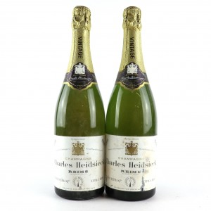 Charles Heidsieck Extra Dry 1966 Vintage Champagne / 2 Bottles