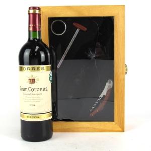 "Torres ""Gran Coronas"" 2004 Penedes Reserva / Wine Accessory Case"