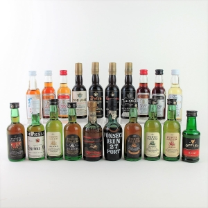 Selection of Port & Sherry Miniatures 20x5cl
