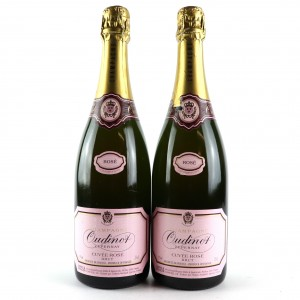 Oudinot Brut Rose NV Champagne 2x75cl