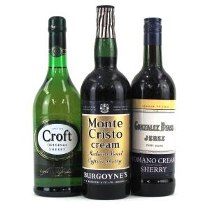 Assorted Cream Sherry / 3 Bottles