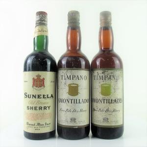 Various Amontillado & Brown Sherry 3x75cl