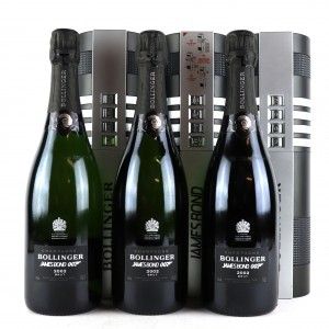 Bollinger 2002 Vintage Champagne 3x75cl / James Bond 007 Limited Edition
