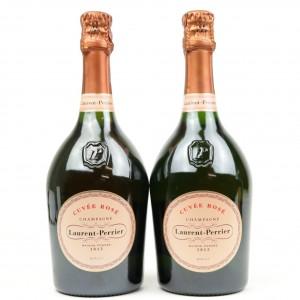 Laurent-Perrier Rose Brut NV Champagne 2x75cl