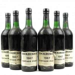Cockburn's 1967 Vintage Port / 6 Bottles