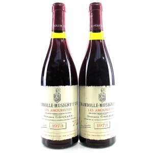 """Dom. Grivelet """"Les Amoureuses"""" 1973 Chambolle-Musigny 1er-Cru 2x75cl"""