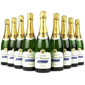Heidsieck Gold Top Dry Monopole NV Champagne / 9 Bottles