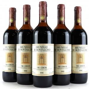Tre Cerchi 1981 Brunello di Montalcino 5x75cl