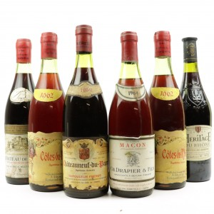 Assorted Burgundy & Rhone Red Wines / 6 Bottles
