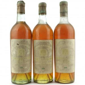 Ch. Coutet 1959 Barsac 1er Cru / 3 Bottles