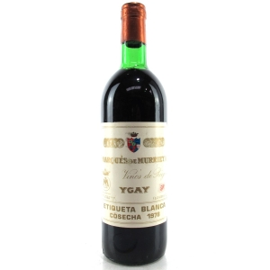 "Marques De Murrieta ""Etiqueta Blanca"" 1978 Rioja Crianza"