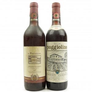 Poggiolini 1981 & 1983 Chianti Classico 2x75cl