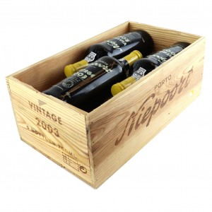 Niepoort 2003 Vintage Port 6x75cl / Original Wooden Case