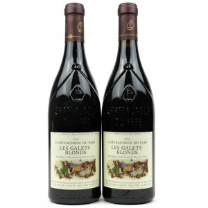 Les Galets Blonds 2001 Chateauneuf-Du-Pape 2x75cl