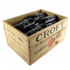 Croft 1982 Vintage Port 12x75cl / Original Wooden Case