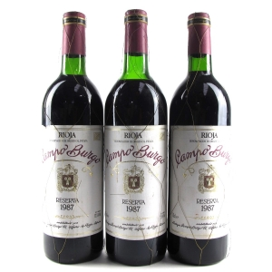 Campo Burgo 1987 Rioja Reserva 3x75cl