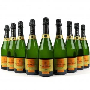 Veuve Clicquot Ponsardin Brut 2008 Vintage Champagne 9x75cl