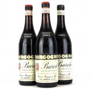 Borgogno 1980 & 1989 Barolo 3x75cl