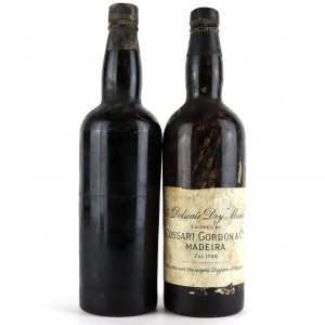 Cossart Gordon & Co Pale Delicate Dry Madeira / 2 Bottles Circa 1930s