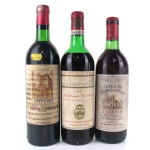 Assorted French Wines 1970s 3x75cl