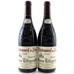 Dom. Du Vieux Telegraphe 1996 Chateauneuf-Du-Pape 2x75cl