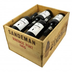 Sandeman 1985 Vintage Port 12x75cl / Original Wooden Case