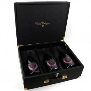 Dom Perignon Rosé 2004 Vintage Champagne 3x150cl / Presentation Suitcase