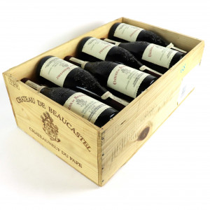 Ch. De Beaucastel 1999 Chateauneuf-Du-Pape 12x75cl / Original Wooden Case