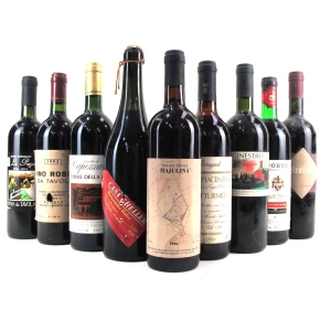 Assorted Italian Red Wines 9x75cl