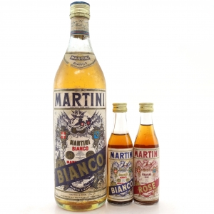 Martini Bianco Vermouth / With Bianco & Rose 2x10cl Circa 1970s