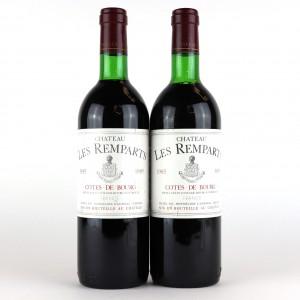 Ch. Les Remparts 1985 Cotes-De-Bourg 2x75cl