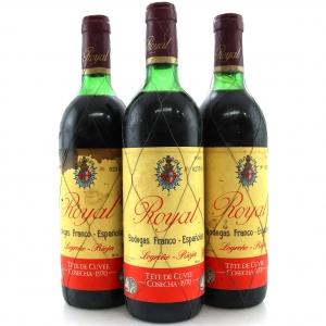 Bodegas Franco-Espanolas Royal Tete De Cuvee 1970 Rioja Gran Reserva 3x70cl