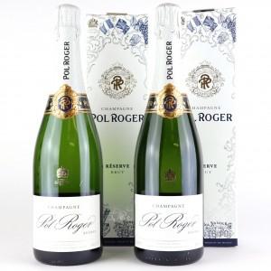 Pol Roger Brut Reserve NV Champagne 2x75cl