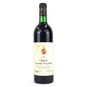 Ch. Grande Versanne 1982 Bordeaux