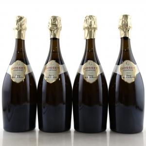 Gosset Grand Blanc De Blancs NV Champagne 4x75cl