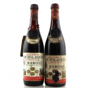 Marchesi Di Barolo 1961 & 1969 Barolo 2x72cl