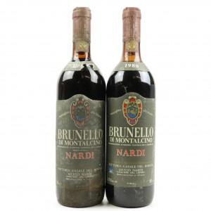 S.Nardi 1980 & 198* Brunello di Montalcino 2x75cl
