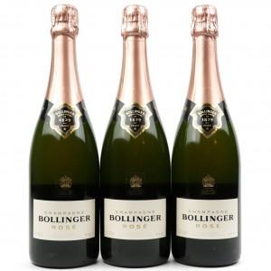Bollinger Brut Rosé NV Champagne 3x75cl