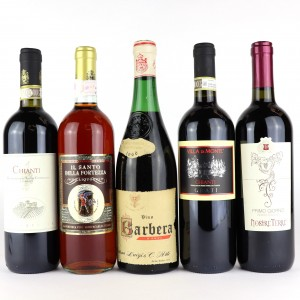Assorted Italian Wines / 5 Bottles