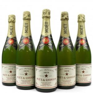 Moet & Chandon Dry Imperial 1973 Vintage Champagne / 5 Bottles
