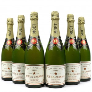 Moet & Chandon Dry Imperial 1973 Vintage Champagne / 6 Bottles